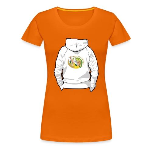 hoodyback - Vrouwen Premium T-shirt