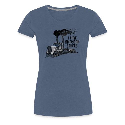 0789 American truck ROUGH smoke - Vrouwen Premium T-shirt