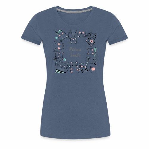 Bitte lächeln - Frauen Premium T-Shirt