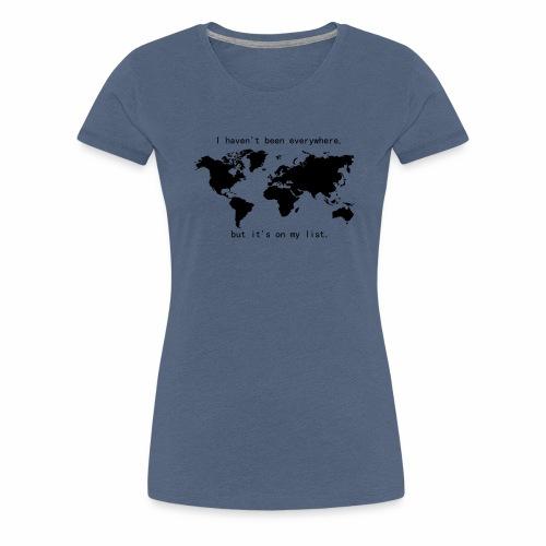 Weltkarte - Frauen Premium T-Shirt