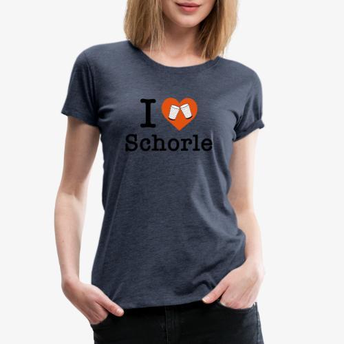 I love Schorle – Dubbeglas - Frauen Premium T-Shirt