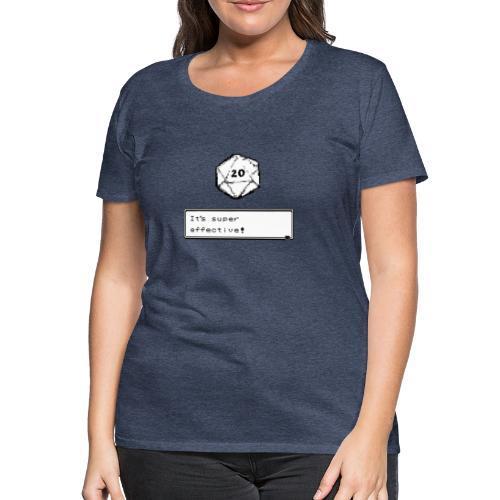 Coup critique d20 super efficace! - D & D Dnd - T-shirt Premium Femme