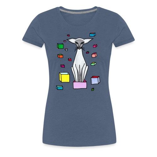 Siames i låda - Premium-T-shirt dam