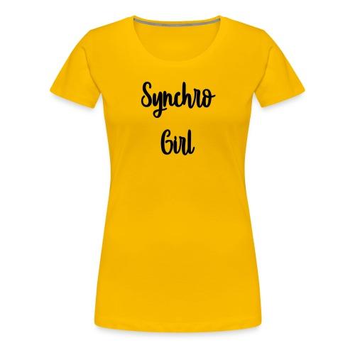Synchro Girl - Naisten premium t-paita