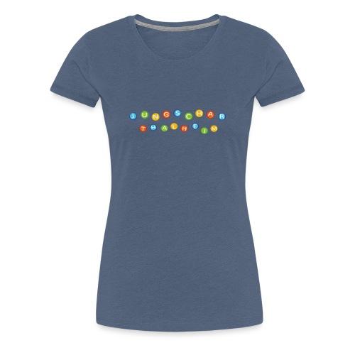 Jungscharlogo Bunt Querformat - Frauen Premium T-Shirt