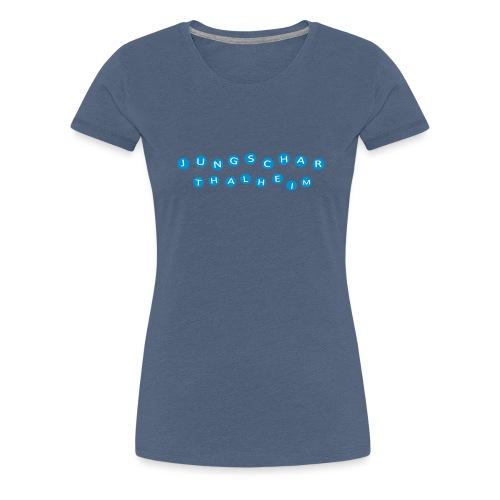 Jungscharlogo Einfaerbig Quer - Frauen Premium T-Shirt