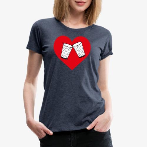 Schorle Liebe – Dubbegläser - Frauen Premium T-Shirt