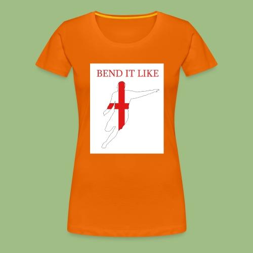 Bend It Like DavidBeckham - Premium-T-shirt dam
