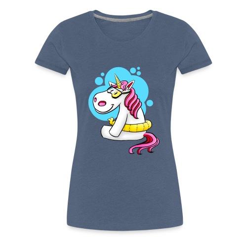 Einhorn mit Schwimmring - Frauen Premium T-Shirt