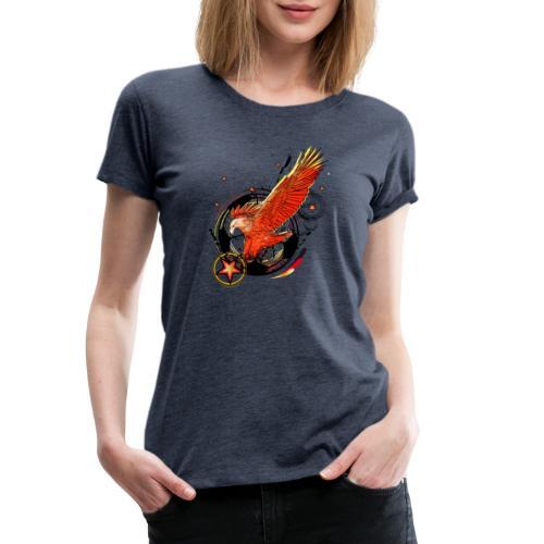 Adler mit Deutschland Stern - Frauen Premium T-Shirt