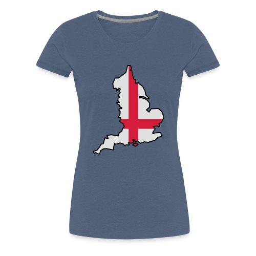 England & Flag - Women's Premium T-Shirt