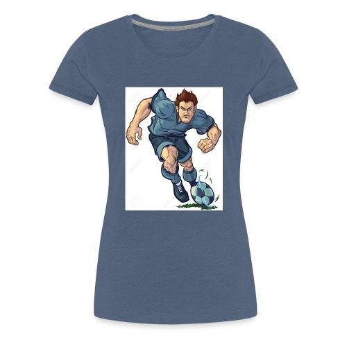 41982995-Vector-de-dibujos-animados-ilustraci-n-de - Camiseta premium mujer