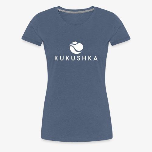 KUKUSHKA RECORDS WHITE LOGO - Women's Premium T-Shirt