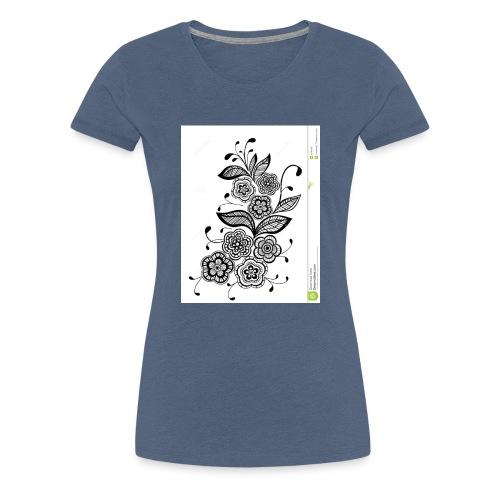diseño de flores - Camiseta premium mujer