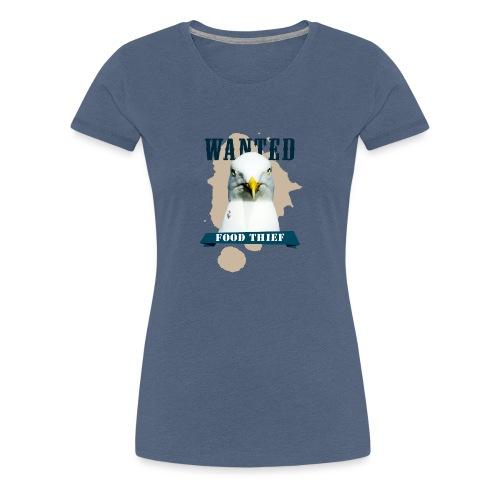 WANTED - FOOD THIEF - Frauen Premium T-Shirt