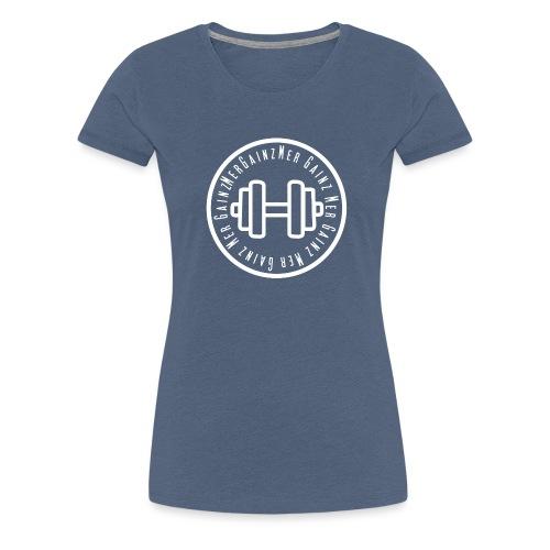 Mergainz Logo Vit GRRR SOM EN TIGER - Premium-T-shirt dam