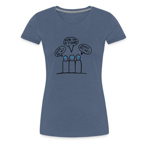 Transparent Blue Eyes Guys 'on a t-shirt' - Women's Premium T-Shirt
