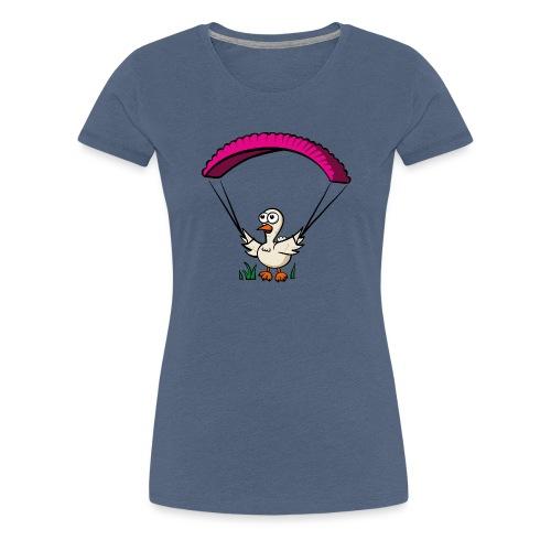 Groundhendl Groundhandling Hendl Paragliding Huhn - Frauen Premium T-Shirt