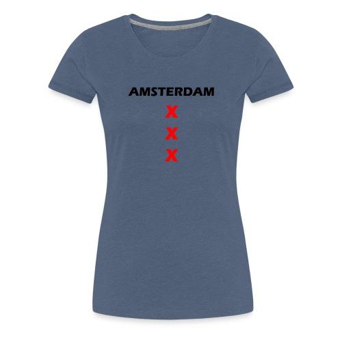 AMSTERDAM KRUIS png - Vrouwen Premium T-shirt