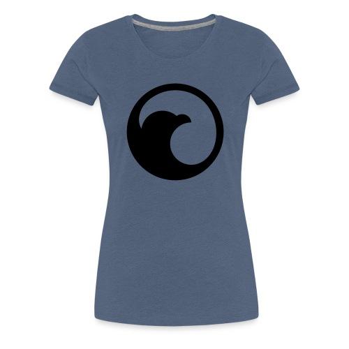 VG Circle Logo Black vect - Women's Premium T-Shirt