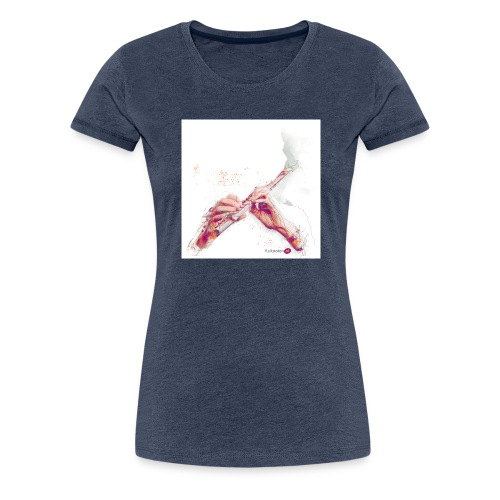 fluitnoten mok - Women's Premium T-Shirt
