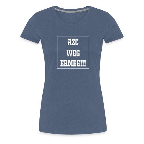 Protest t-shirt tegen de vluchtelingen. - Vrouwen Premium T-shirt