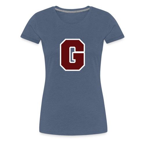 Initial Letter G - Women's Premium T-Shirt