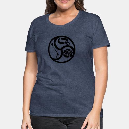 Triskele triskelion BDSM Emblem HiRes 1 color - Frauen Premium T-Shirt
