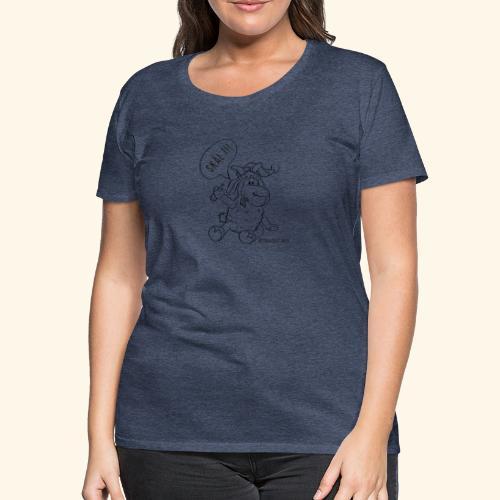 Schafbock: Weihnachtsbock - schwarz - Frauen Premium T-Shirt