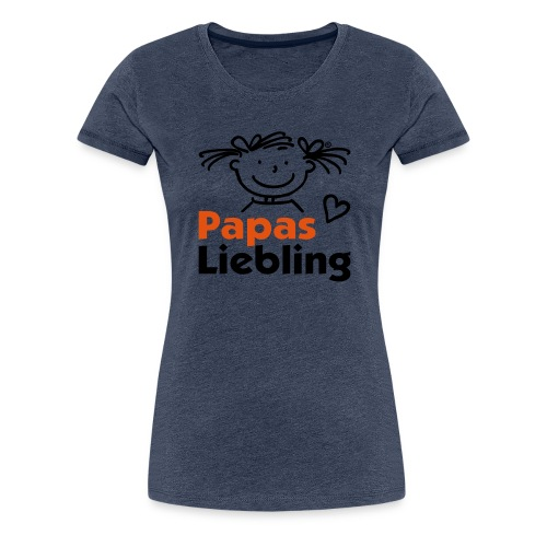 Papas Liebling mit Herz - Frauen Premium T-Shirt