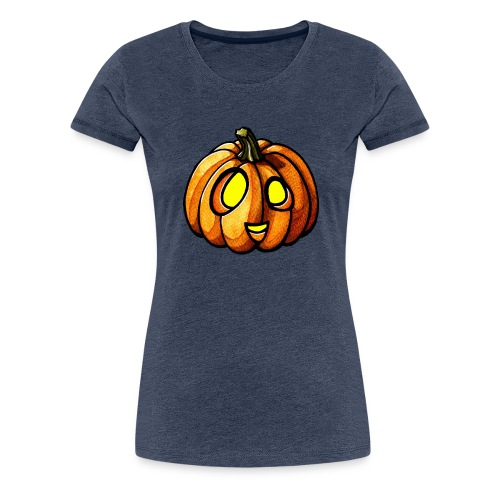 Pumpkin Halloween watercolor scribblesirii - Koszulka damska Premium
