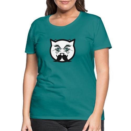 Hipster cat Boy by Tshirtchicetchoc - T-shirt Premium Femme