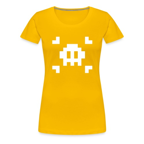 Mug Pixel Skull - T-shirt Premium Femme
