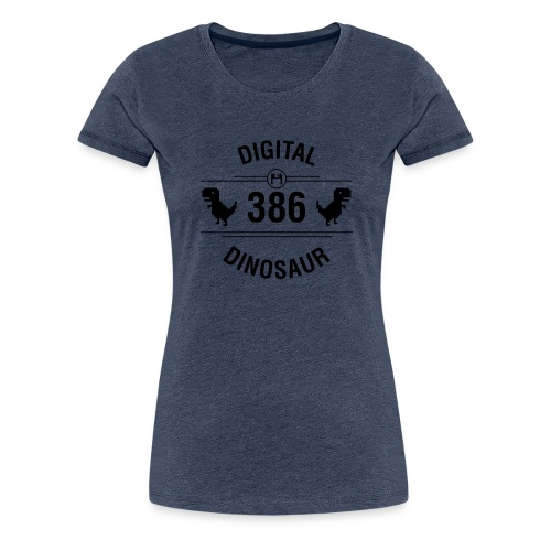Digital Dinosaur - Frauen Premium T-Shirt