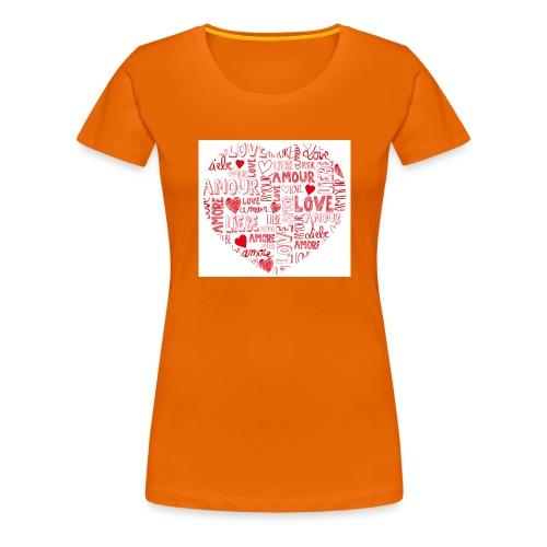 T-shirt texte amour - T-shirt Premium Femme