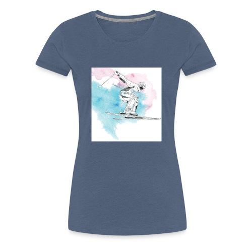 Skiing - Women's Premium T-Shirt