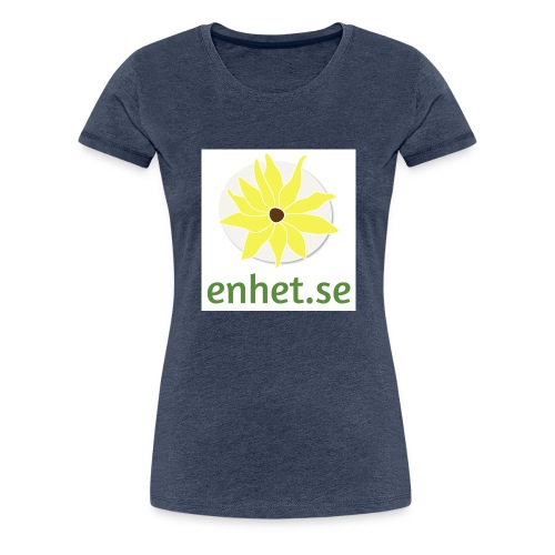 Enhet_logotyp_hq_text_und - Premium-T-shirt dam