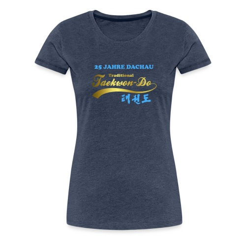 25 Jahre blau gold - Frauen Premium T-Shirt