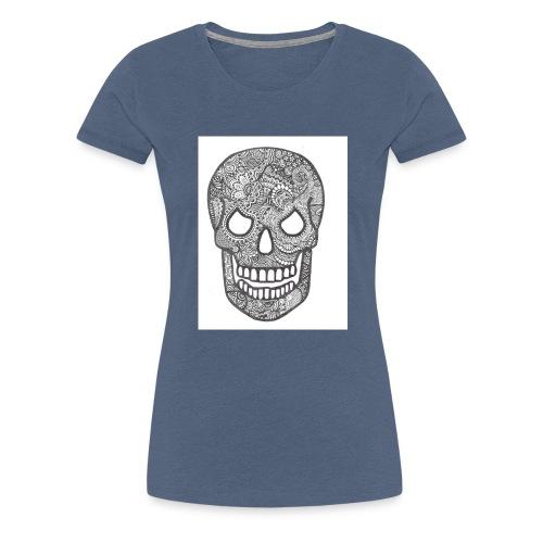 Zentangle Skull 1 - Vrouwen Premium T-shirt