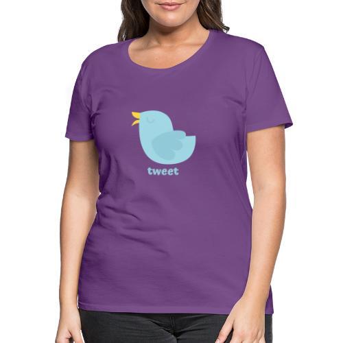 tweet - Dame premium T-shirt