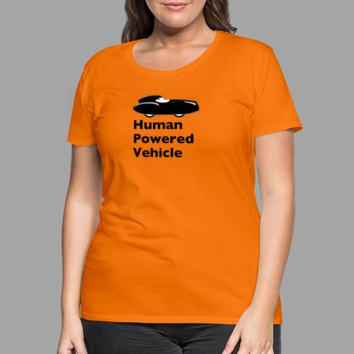 Quattrovelo Human Powered Vehicle black - Naisten premium t-paita