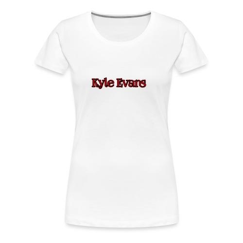 KYLE EVANS TEXT T-SHIRT - Women's Premium T-Shirt
