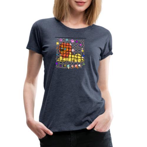 Lion dans son cage - T-shirt Premium Femme
