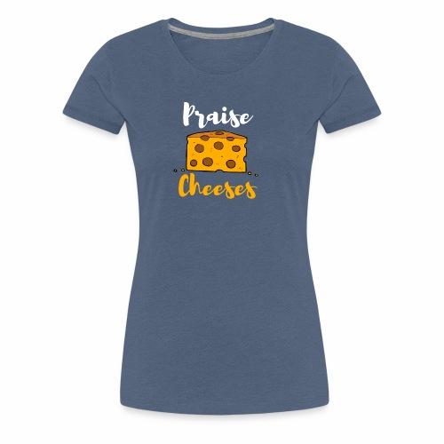 PRAISE JESUS LUSTIGES CHRISTLICHES SHIRT - Frauen Premium T-Shirt