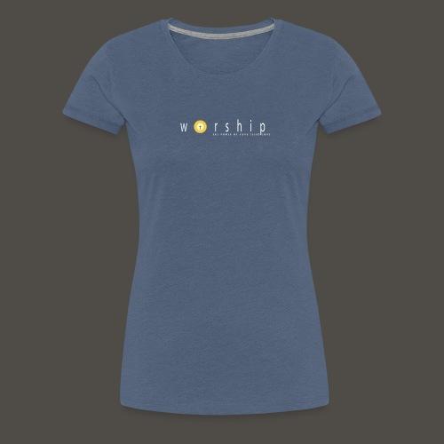 Vorlage V5217 THE POWER OF PAPA JESUS LOVE 300 - Frauen Premium T-Shirt