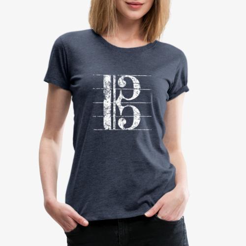 Altschlüssel, Bratschenschlüssel, Notenschlüssel - Frauen Premium T-Shirt