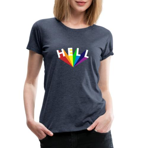 Hell Rainbow White - Frauen Premium T-Shirt