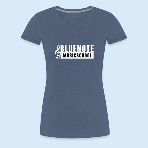 Bluenote Musicschool Logo Weiss/Schwarz - Frauen Premium T-Shirt