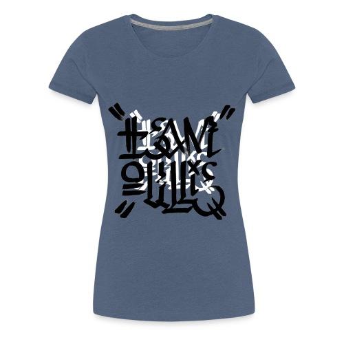 teamoullie logo white - Vrouwen Premium T-shirt