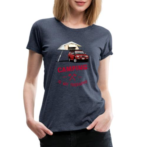 Camping is my Theraphy Dachzelt - Frauen Premium T-Shirt